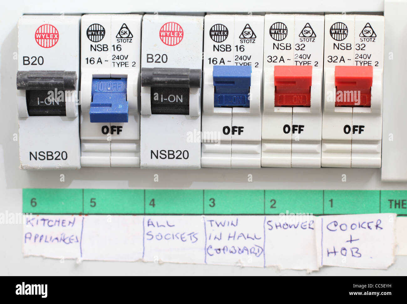 hight resolution of close up of a domestic electrical fuse box on off switch picture byclose up of a