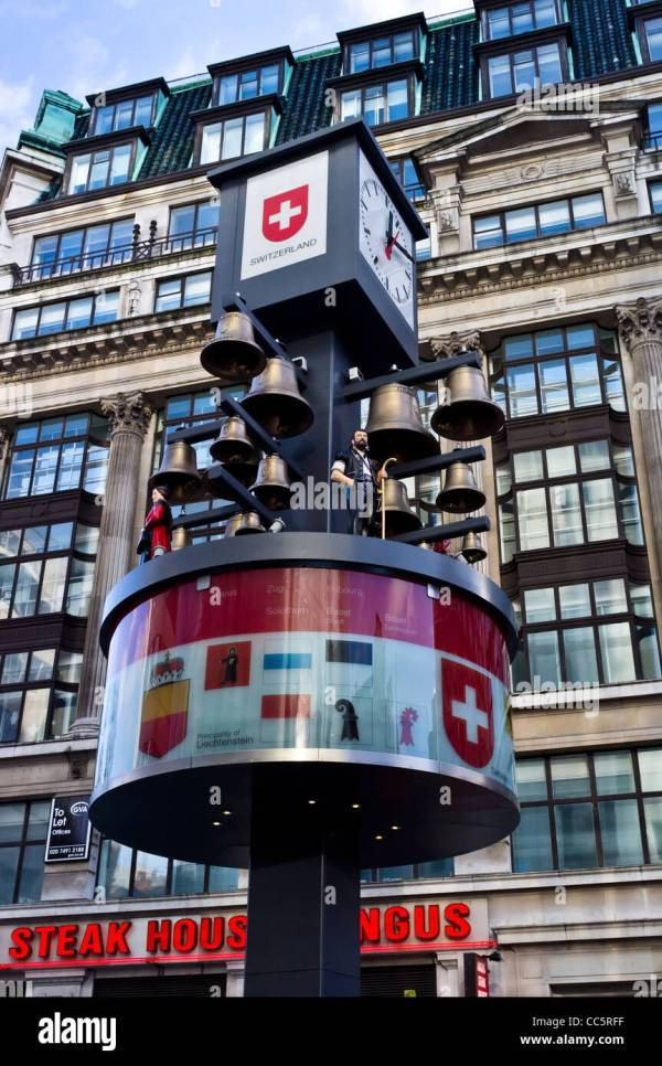 """Relocated """"swiss Clock"""" In Leicester Square Stock Royalty Free 41924835 - Alamy"""