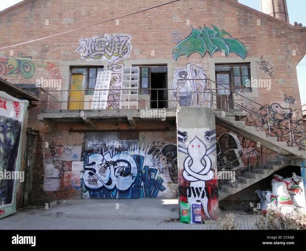 Wall Painted With Graffiti 798 Art Zone Beijing China Stock 41931968 - Alamy