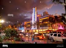 Miami Beach Florida Ocean Drive Stock &