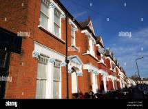 Row Of Red Brick Period Terraced Houses Cricklewood North