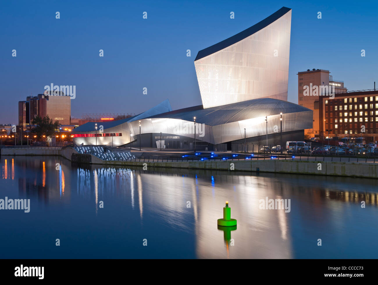 Imperial War Museum North at Night Salford Quays