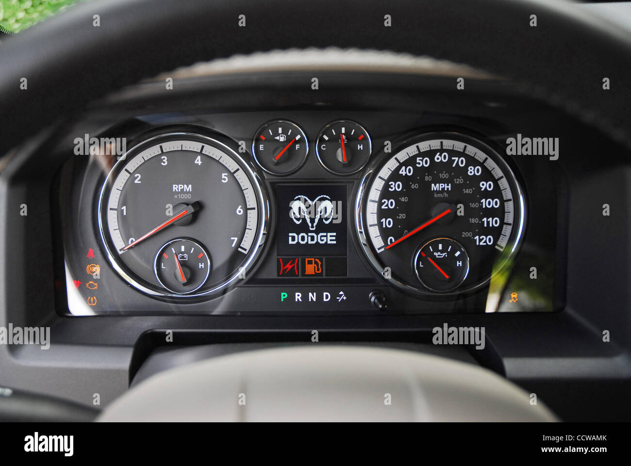 hight resolution of the 2010 dodge ram hemi bighorn crew cab is offered exclusively with a 390hp hemi v8 engine vehicle in austin tan pearl pictured instrument cluster