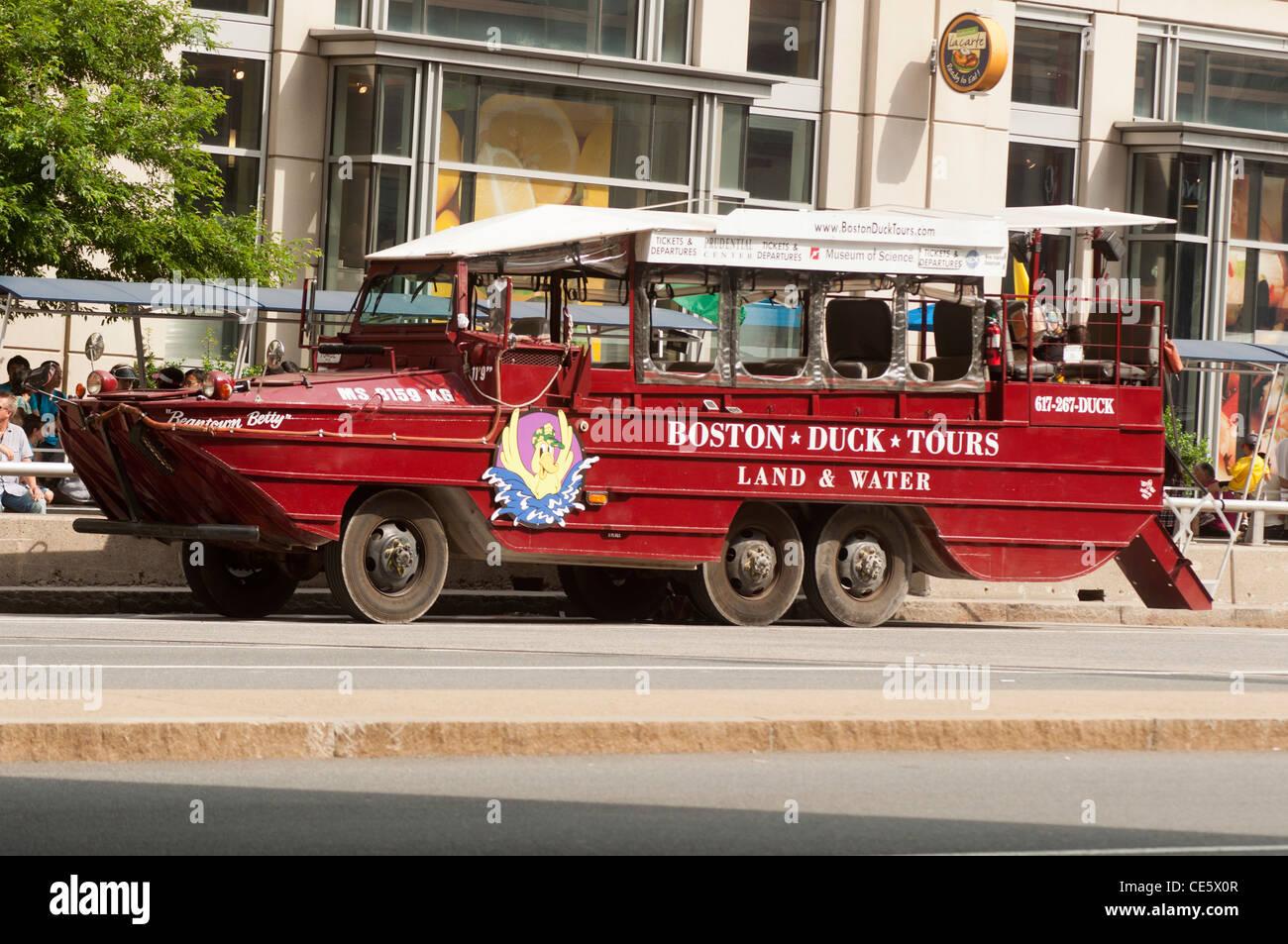 Boston Duck Tour Land And Water Boat Truck Amphibian