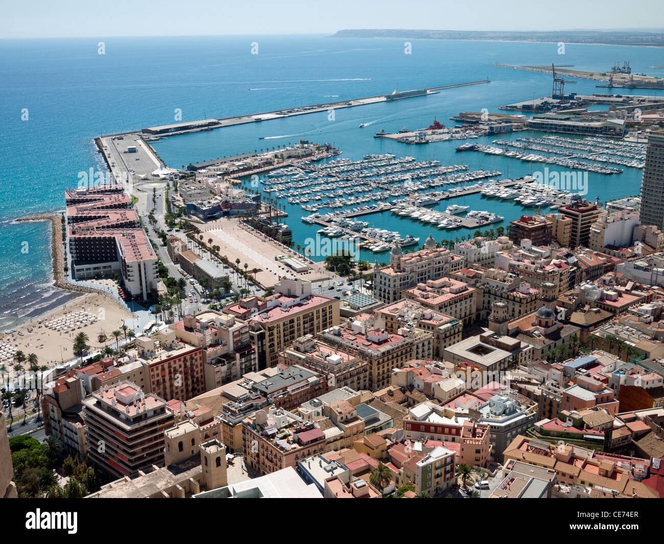 alicante harbour spain stock