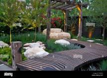 Decking Garden Path Stock &