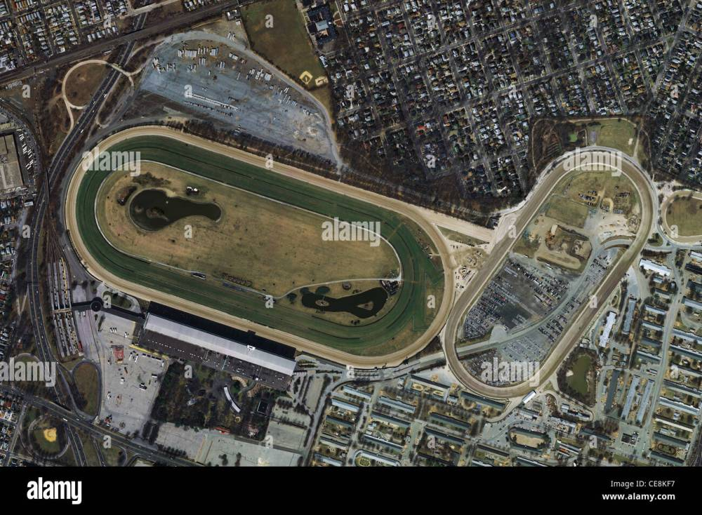 medium resolution of aerial photo map belmont park racetrack elmont new york