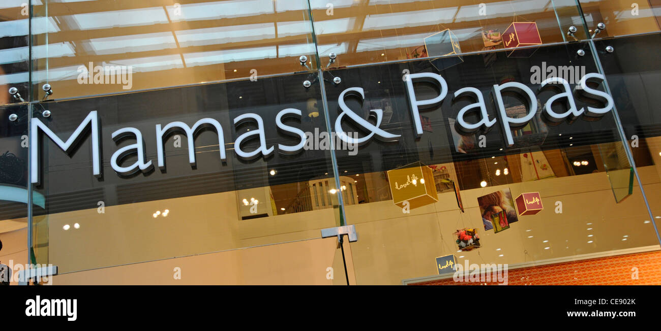 sofaworks westfield stratford all in one sofa bed city branding sign stock photos images mamas papas shop above baby products nursery retail store shopping mall