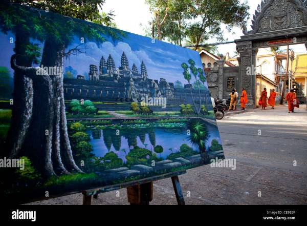 Temple Angkor Wat Paintings for Sale