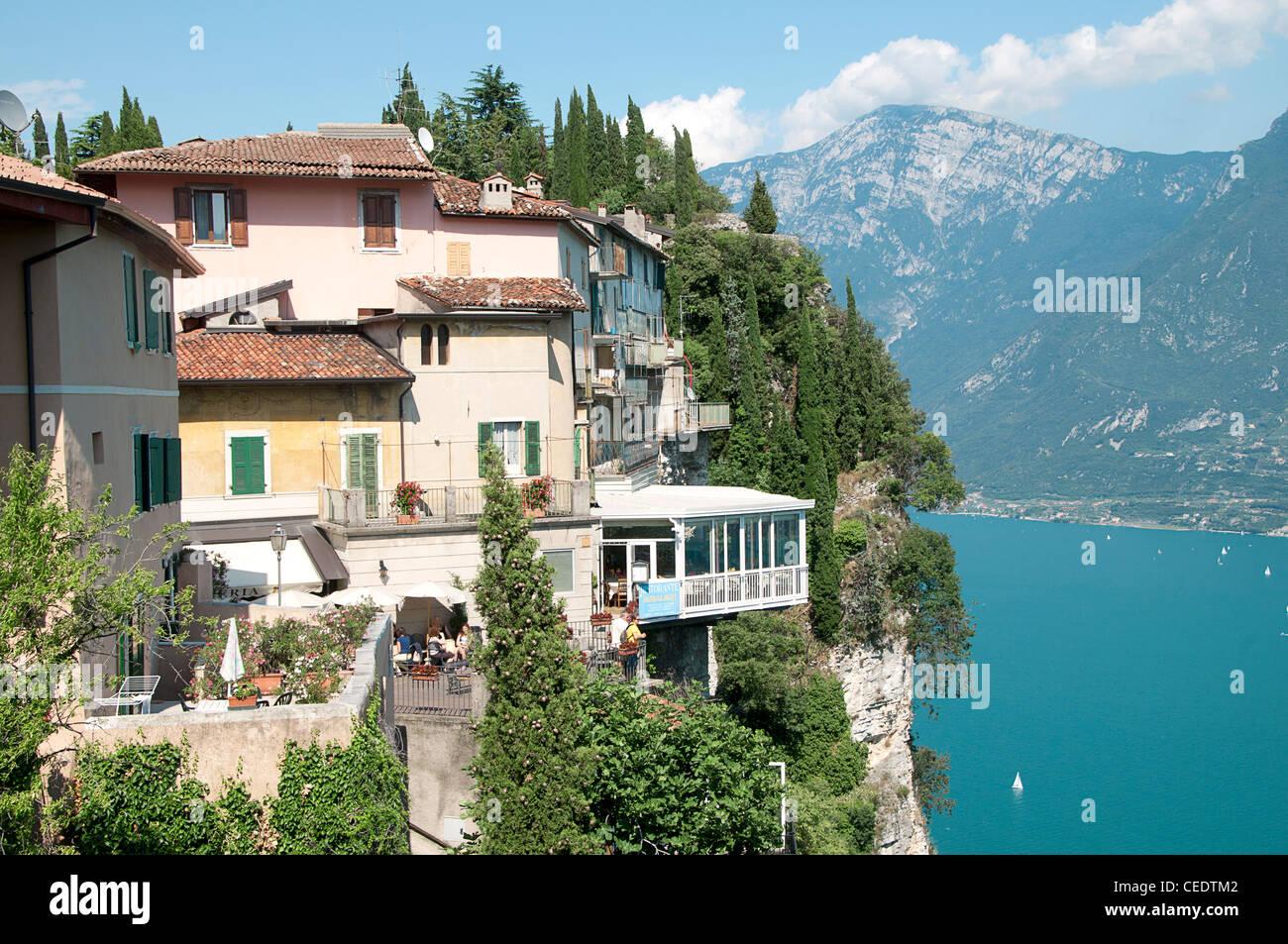 Italy Lombardy Lake Garda Pieve di Tremosine houses