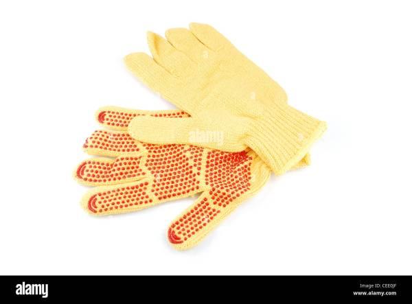 Cotton Work Gloves Stock &