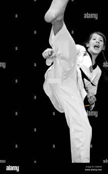 Taekwondo High Kick Girl
