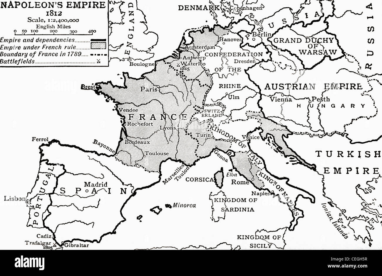 Map Of Napoleon S Empire In From The Story Of