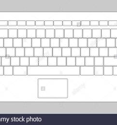 laptop blank keyboard layout computer input element stock image [ 1300 x 1009 Pixel ]