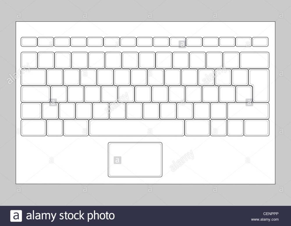 medium resolution of laptop blank keyboard layout computer input element stock image