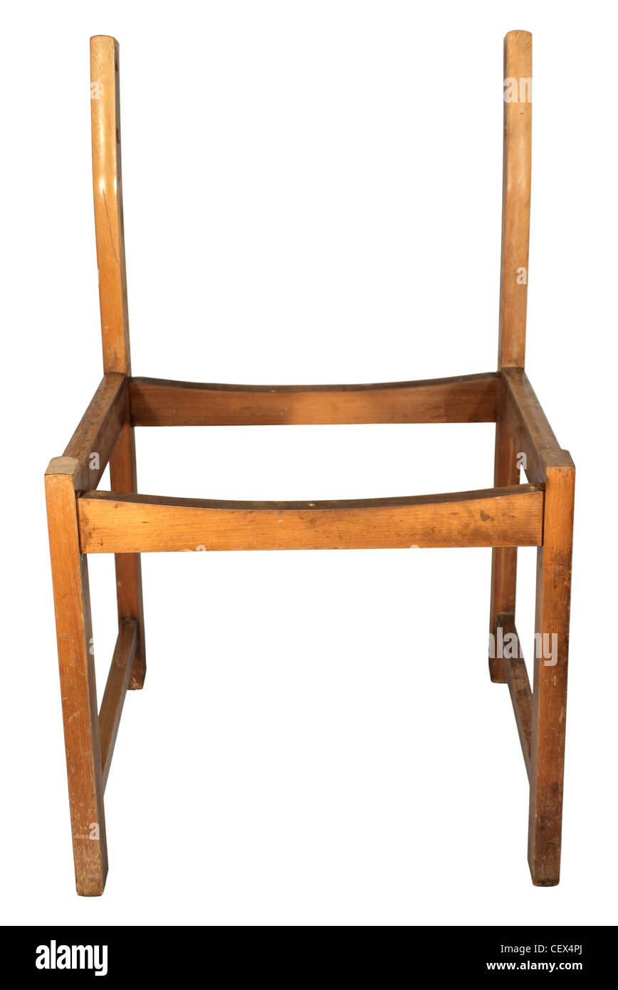 chair without back sitting room chairs designs skeleton wooden a and seat stock photo 43600442