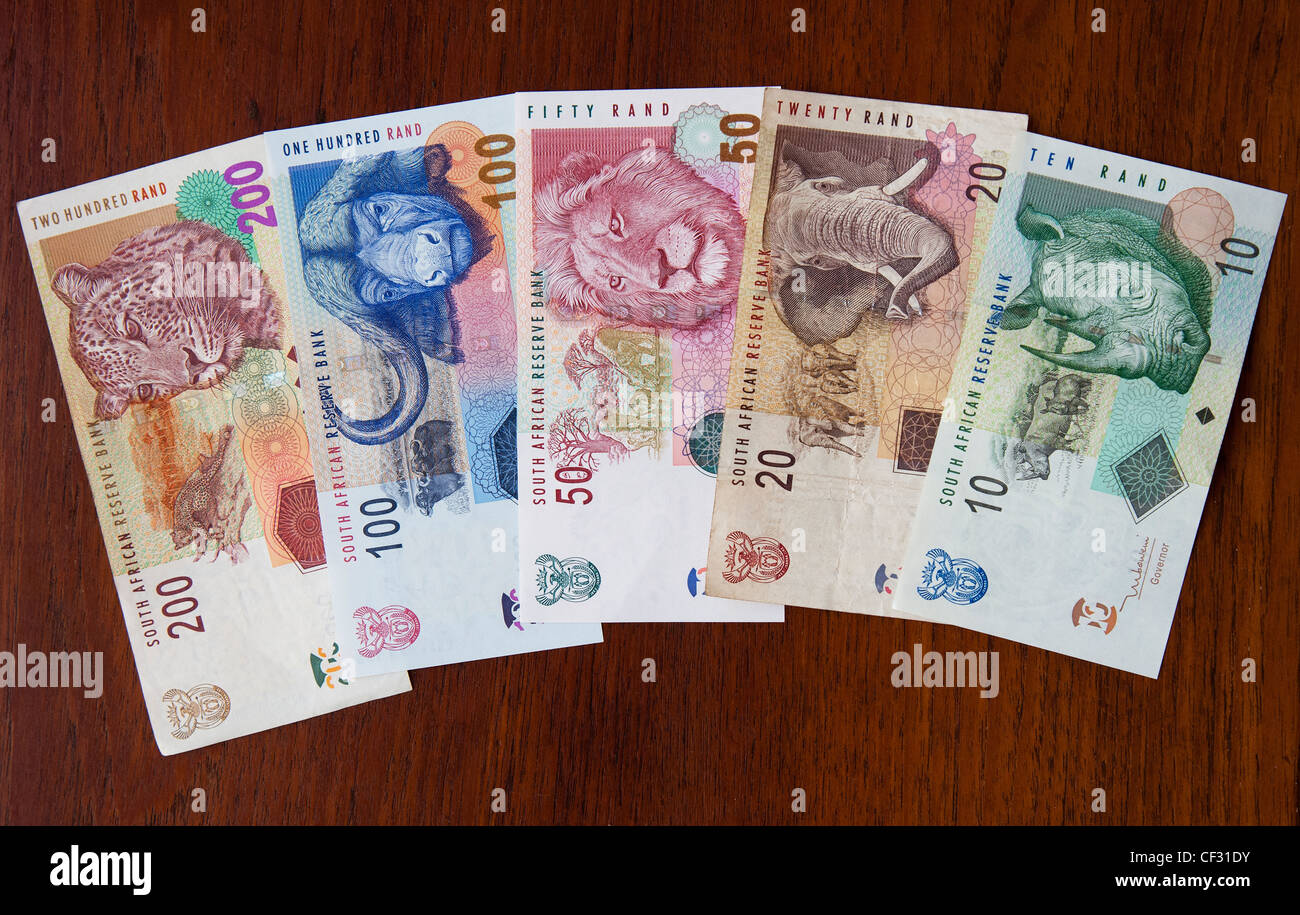 South African Banknotes Various Denominations From 10 To