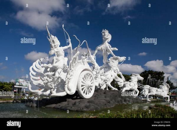 Indonesia Asia Bali Island Statue Patung Kisah Cerita Stock 43820090 - Alamy