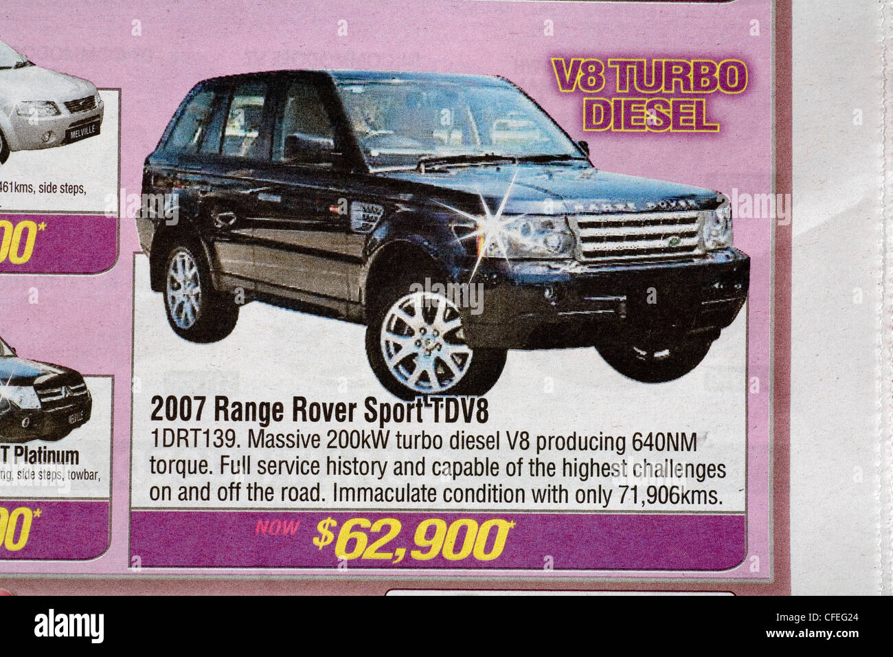 used car advert advertisement