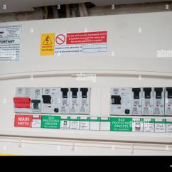 Domestic Electrical Wiring Diagram Uk Cable House Fuse Box Stock Photo 43974288 Alamy