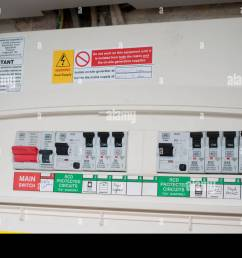 domestic fuse box stock photo 43974288 alamydomestic fuse box [ 1300 x 953 Pixel ]