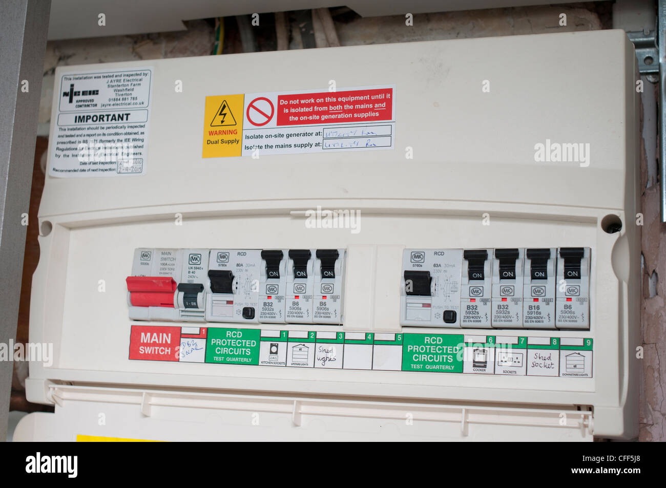 hight resolution of domestic fuse box stock photo 43974288 alamydomestic fuse box