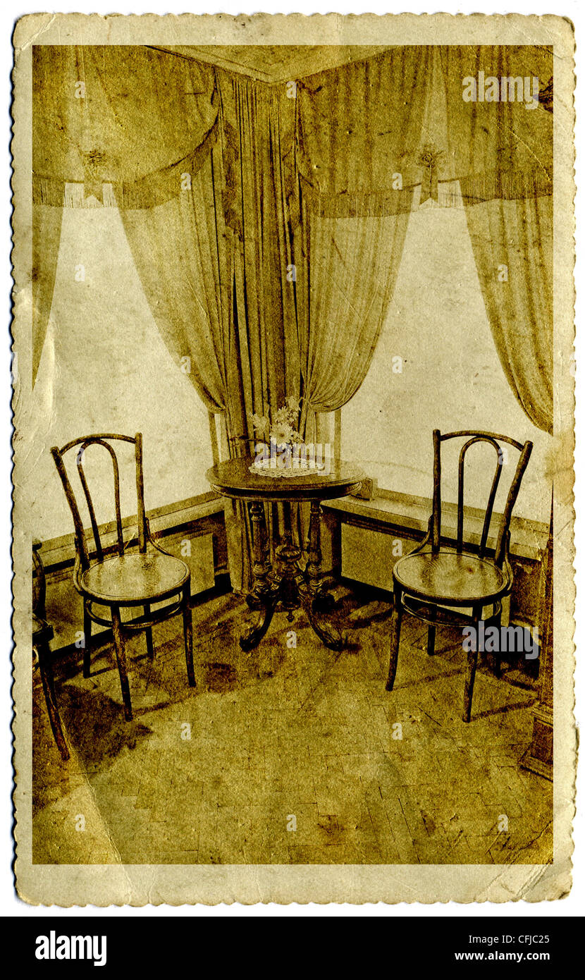 old fashioned birthing chairs coleman broadband quad chair illustration history stock photos time interior on grunge background image