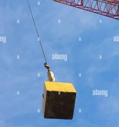usa new york state new york city crane hook carrying block stock [ 866 x 1390 Pixel ]