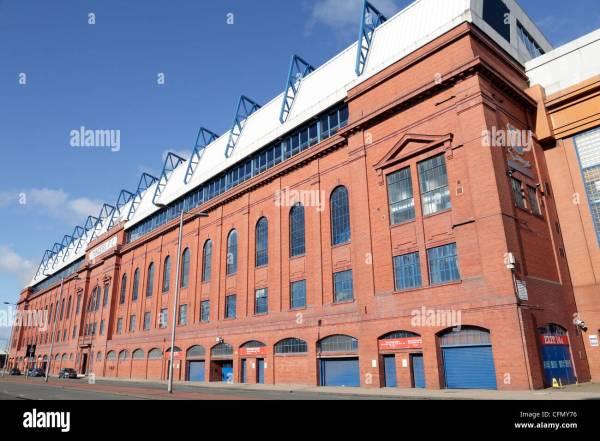 Facade Of Ibrox Stadium Home Glasgow Rangers Football Club Stock Royalty Free