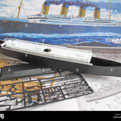 Diagram Of Titanic Ship 1992 Honda Prelude Radio Wiring A Kit Model And The Unassembled Parts