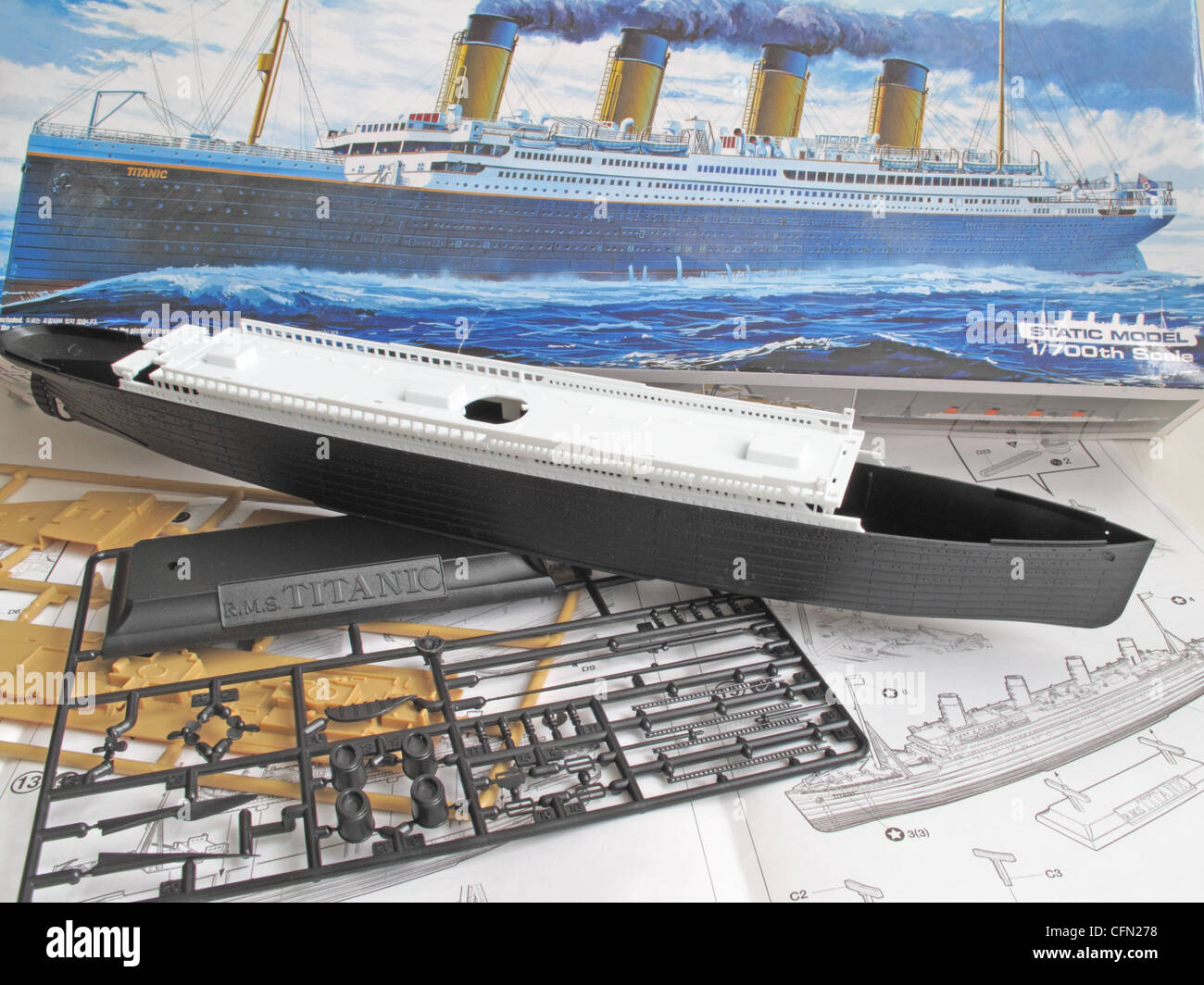 titanic boat diagram fender lace sensor wiring a kit model and the unassembled parts of ship
