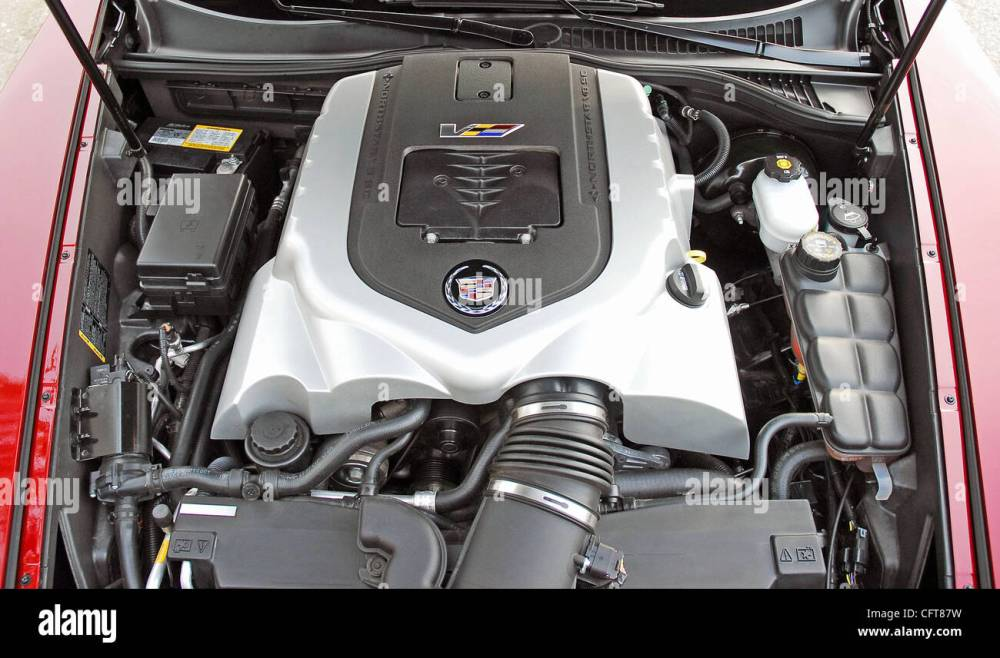 medium resolution of 2007 cadillac xlr v 4 4 liter supercharged v8 engine stock image