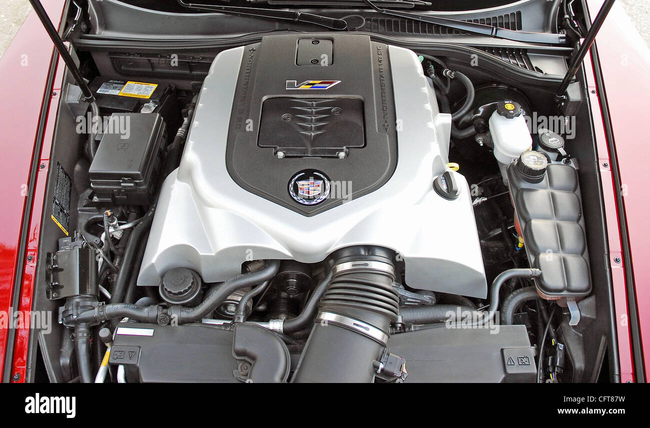 hight resolution of 2007 cadillac xlr v 4 4 liter supercharged v8 engine stock image