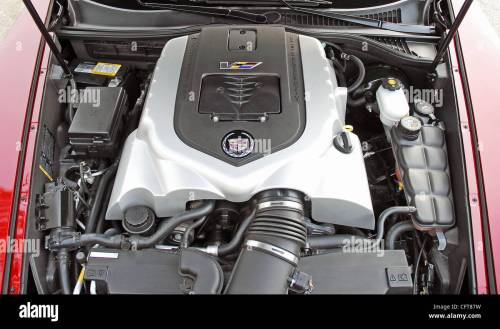 small resolution of 2007 cadillac xlr v 4 4 liter supercharged v8 engine stock image