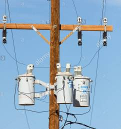 three phase transformers mounted power pole new mexico stock image [ 866 x 1390 Pixel ]