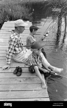 Barefoot Boy Vintage Black And White Stock &