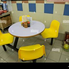 Dining Table And Chairs Hong Kong My Little Pony B M China Food Court Stock Photo