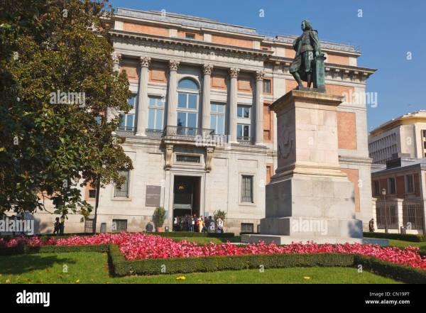Madrid Spain. Statue Of Spanish Artist Murillo El