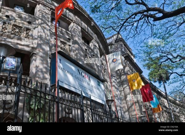 National Of Modern Art Mumbai Bombay India Stock
