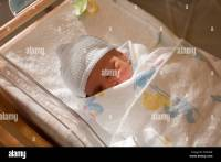 Newborn baby boy in hospital crib Stock Photo: 47380447 ...