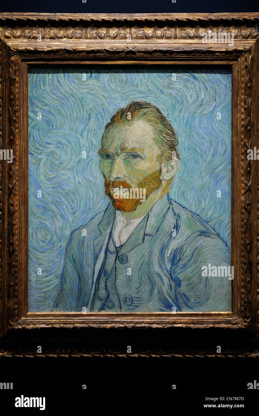 Musee D Orsay Van Gogh : musee, orsay, France,, Paris,, Orsay, Museum,, Vincent, Gogh,, Autoportrait, Stock, Photo, Alamy