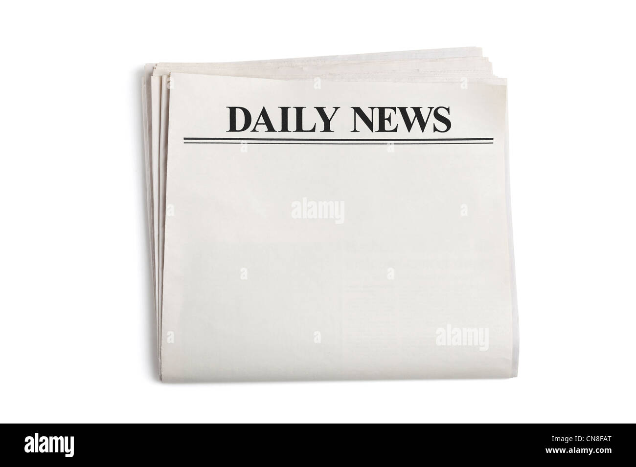 Daily News Blank Newspaper With White Background Stock