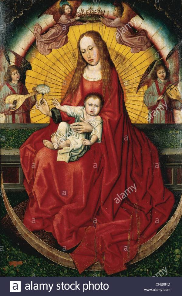 Gothic Art. Spain. Virgin And Child. Painting