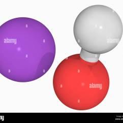 Sodium Oxide Ionic Bonding Diagram Scart Plug Wiring Hydroxide Molecule Stock Photo Royalty Free Image