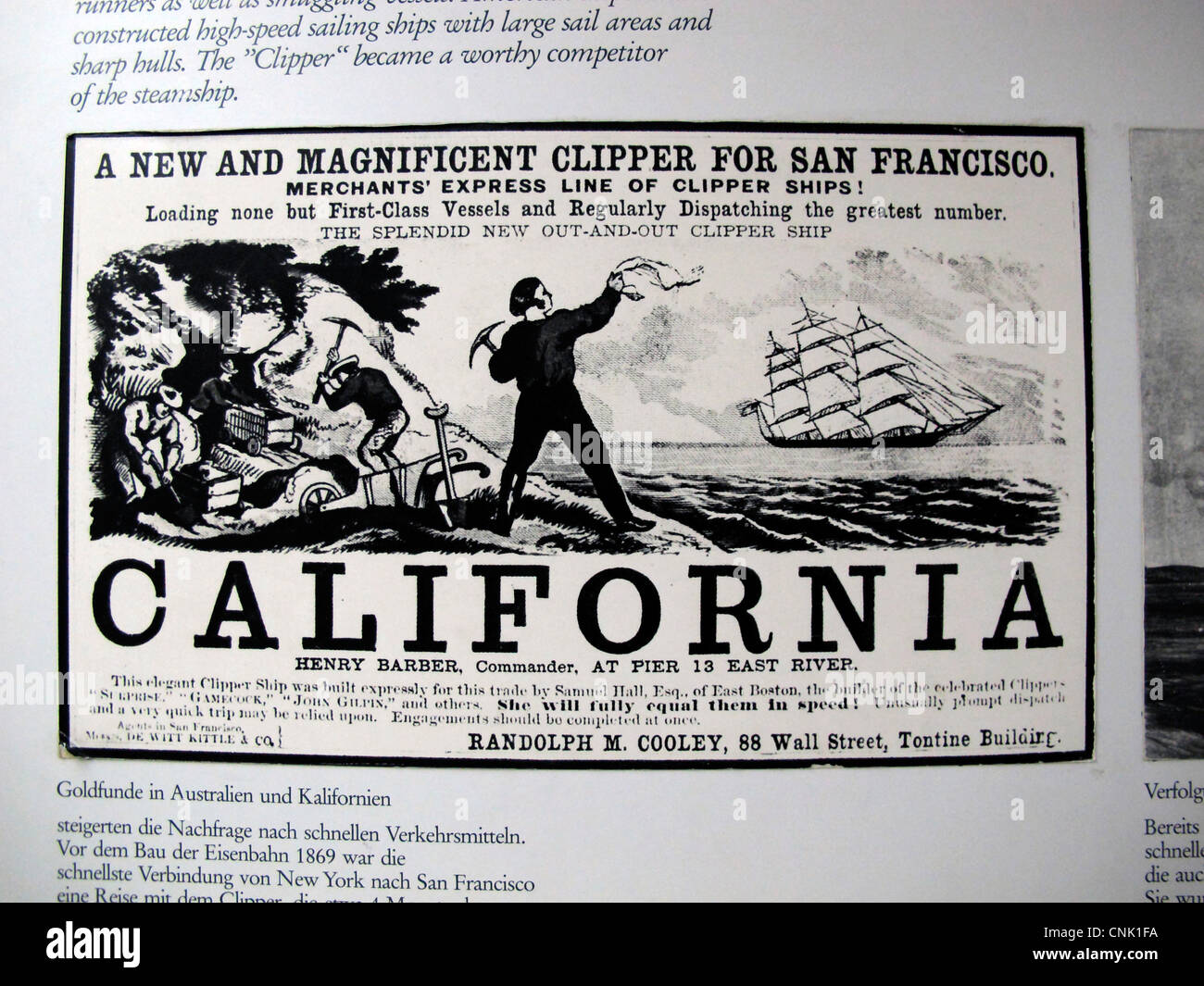 Poster American Clipper Textbook Education History