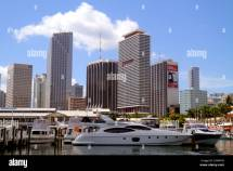 Miami Florida Biscayne Bay Bayside Marketplace Marina