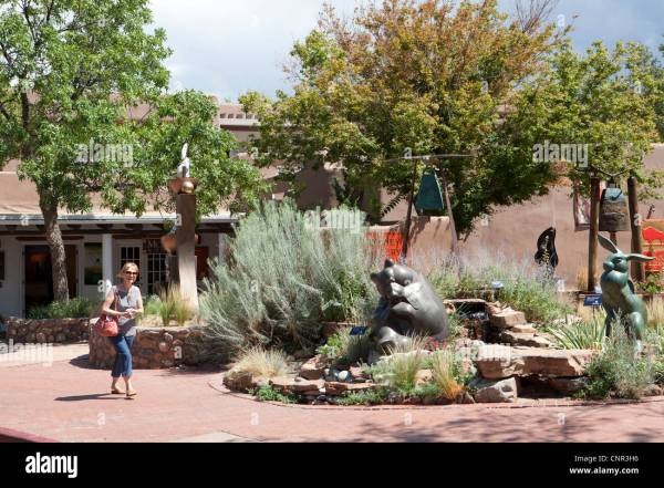 Courtyard Of Art Canyon Road Santa Fe