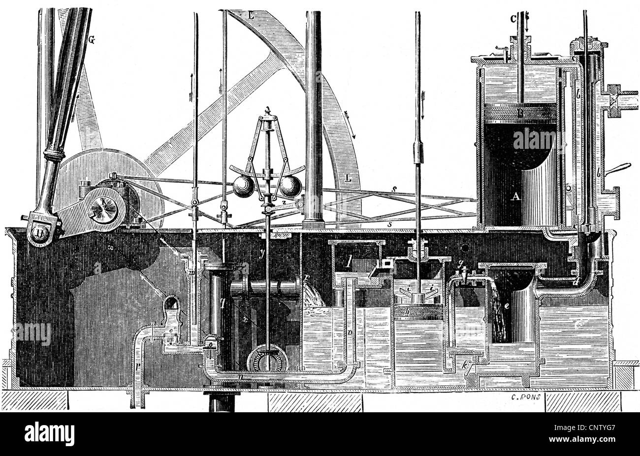 james watt steam engine diagram bluebird bus wiring diagrams stock photos and