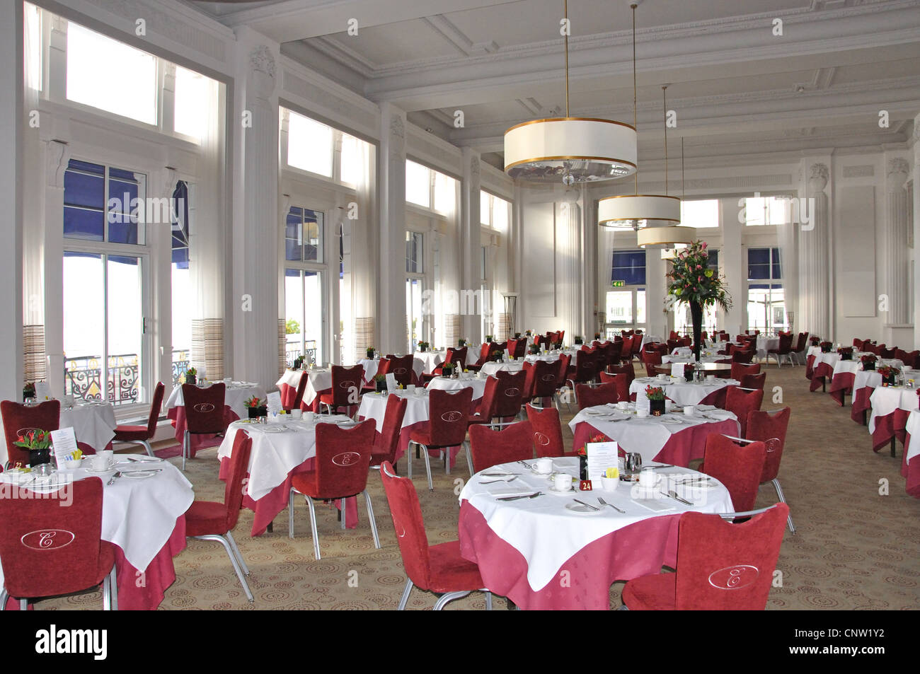 Dining Room At Cavendish Hotel Grand Parade Eastbourne