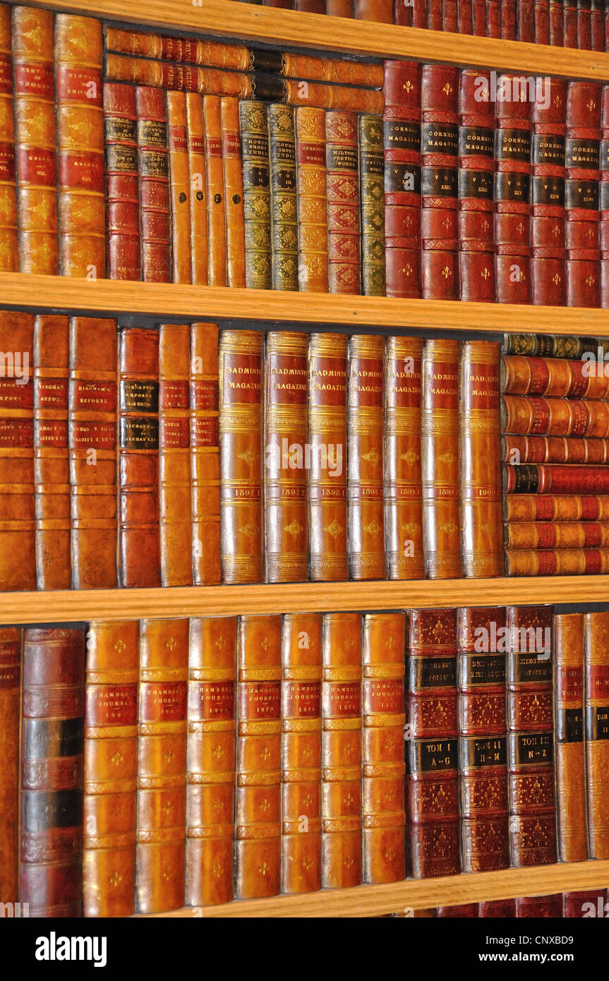 Antique Books In Library Of Cavendish Hotel Grand Parade